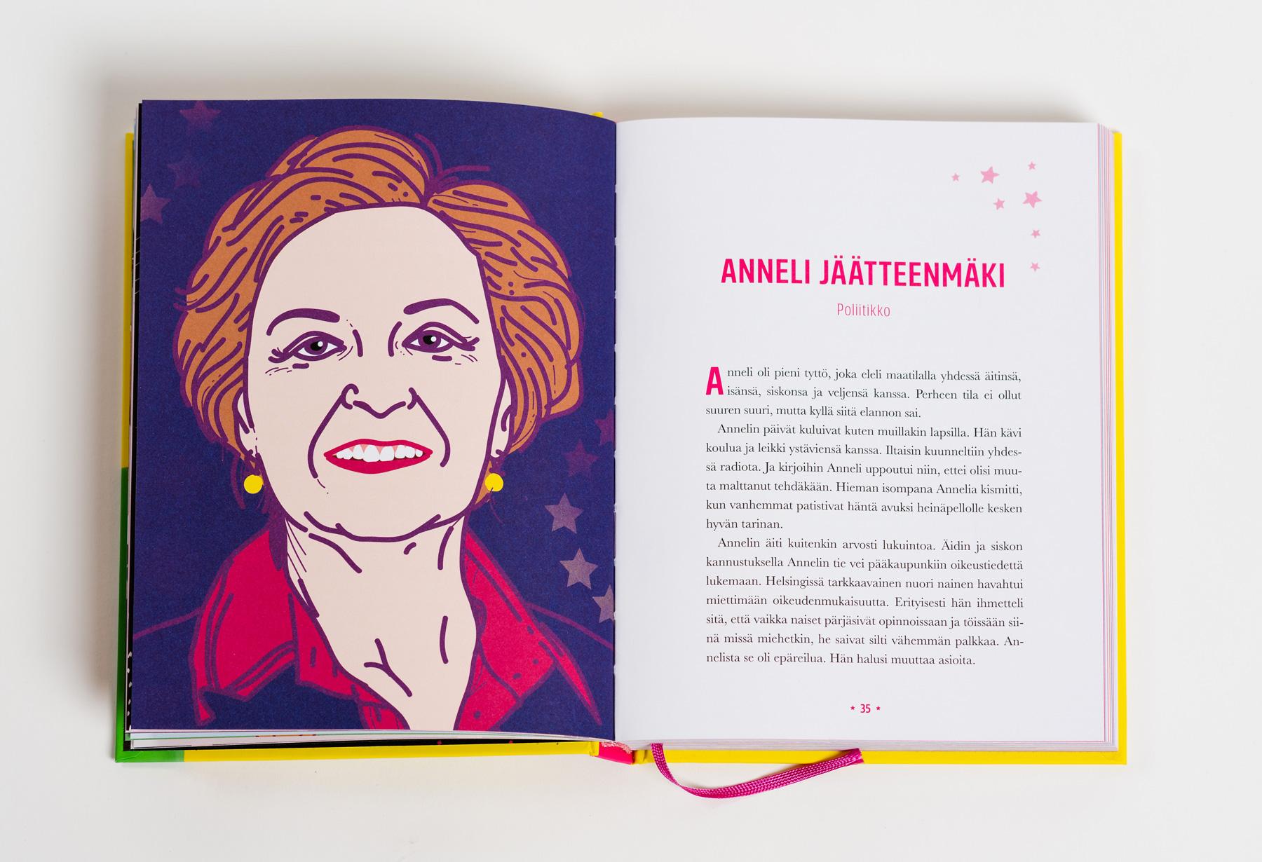 Sankaritarinoita tytöille Anneli Jäätteenmäki kuvitus