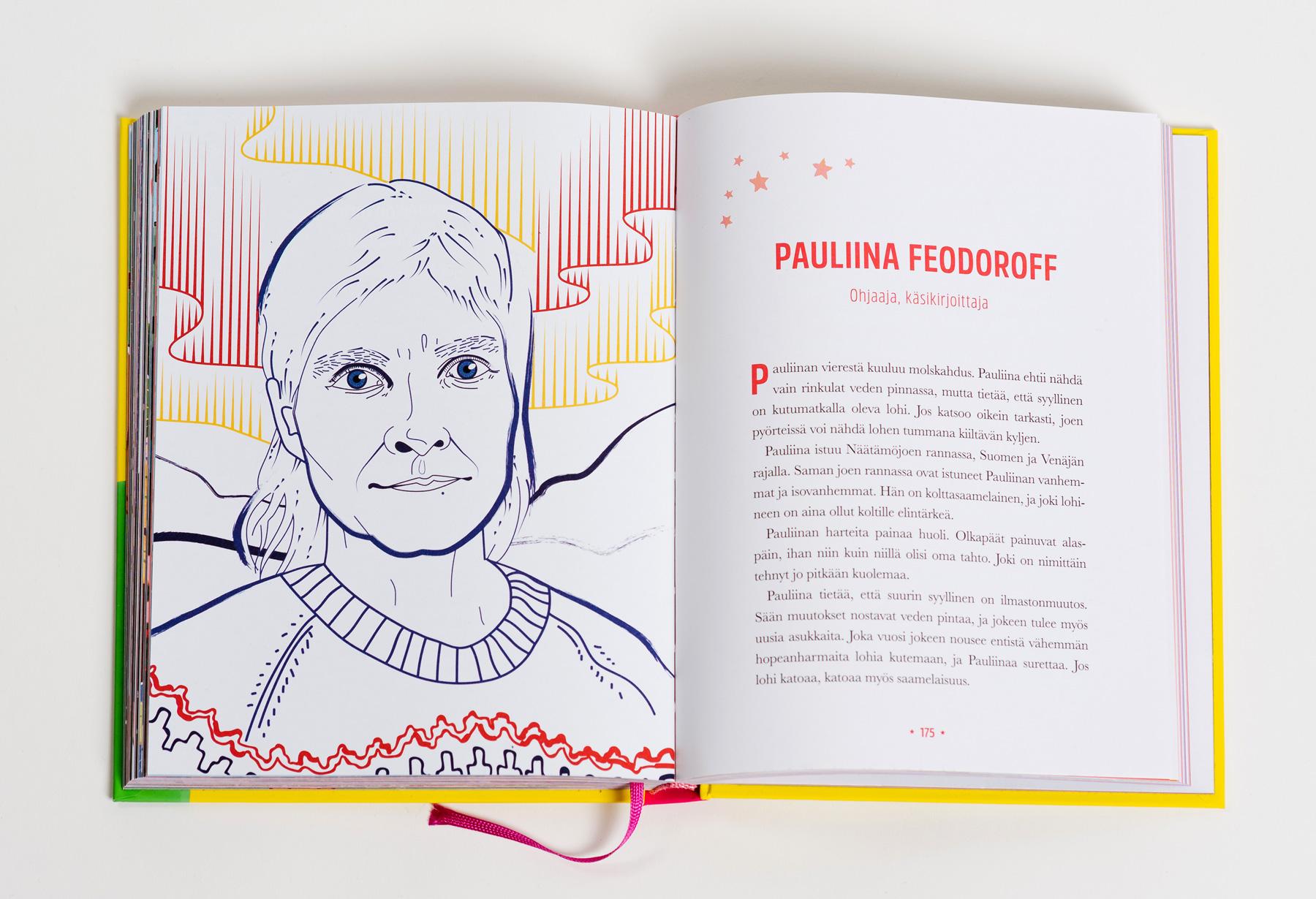 Sankaritarinoita tytöille Pauliina Feodoroff kuvitus
