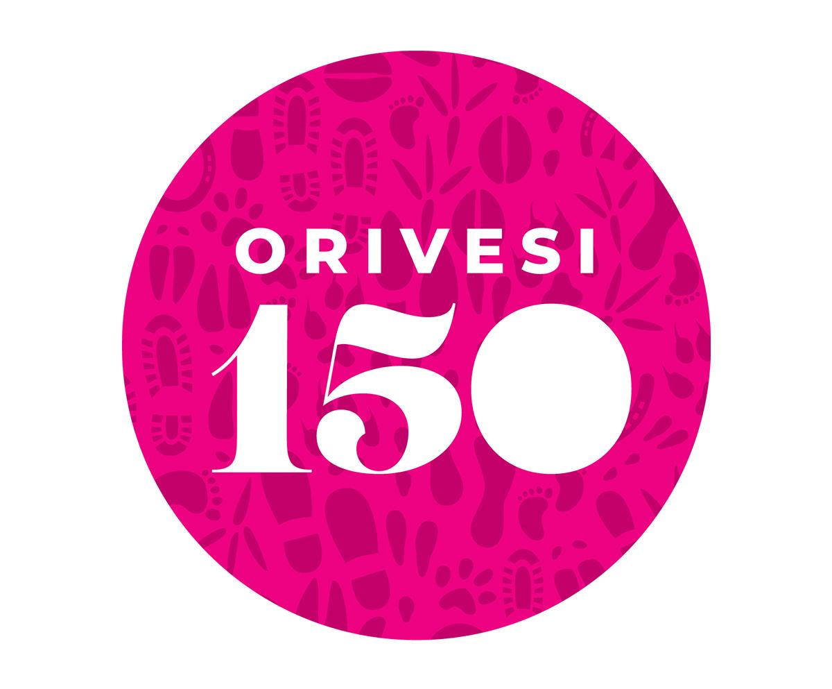 Orivesi 150-vuotta logo