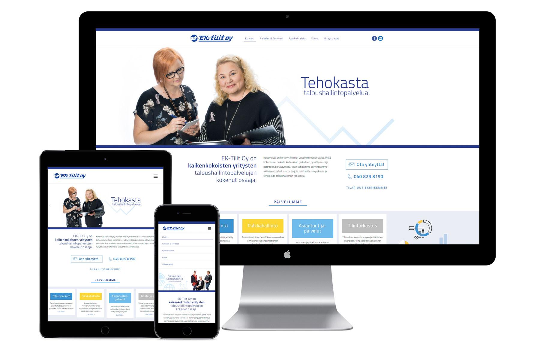 EK-tilit nettisivut