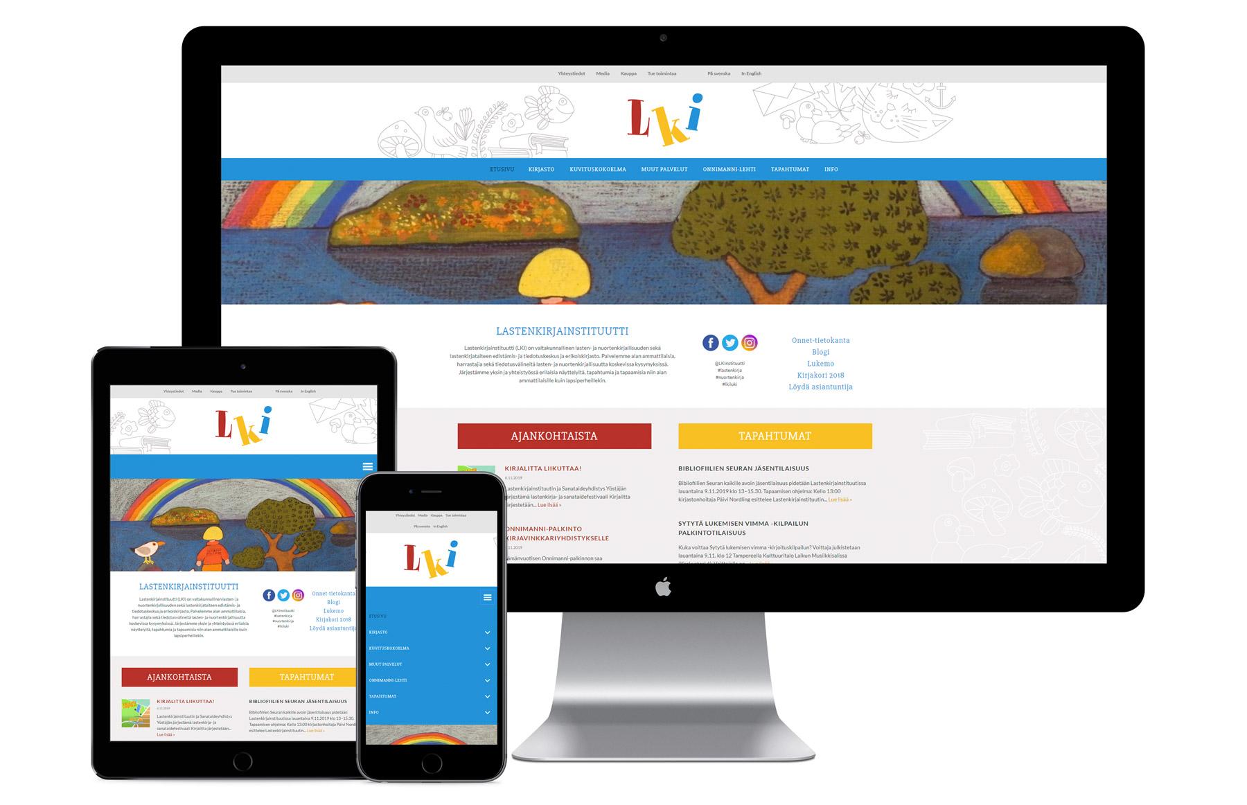 Lastenkirjainstituutti nettisivut